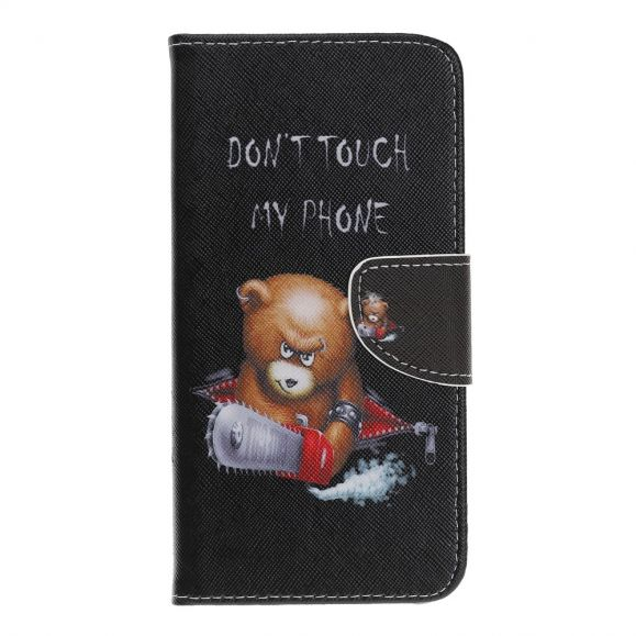 Huawei Y5 2019 - Housse Don't touch my phone avec ours