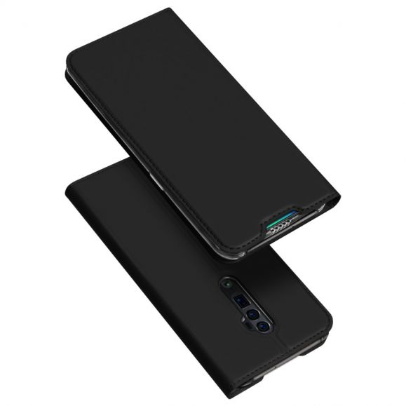 OPPO Reno 10x Zoom - Housse business imitation cuir - Noir