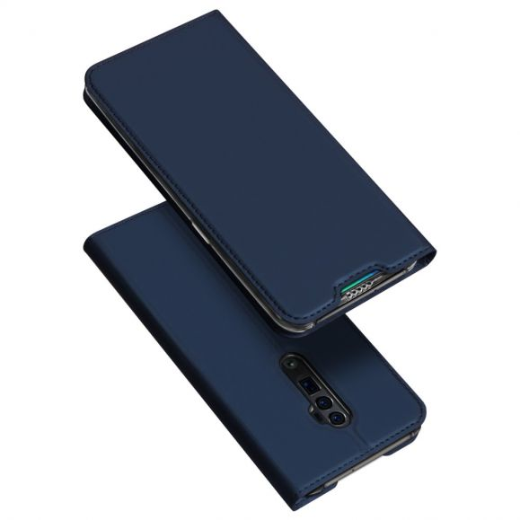 OPPO Reno 10x Zoom - Housse business imitation cuir - Bleu marine
