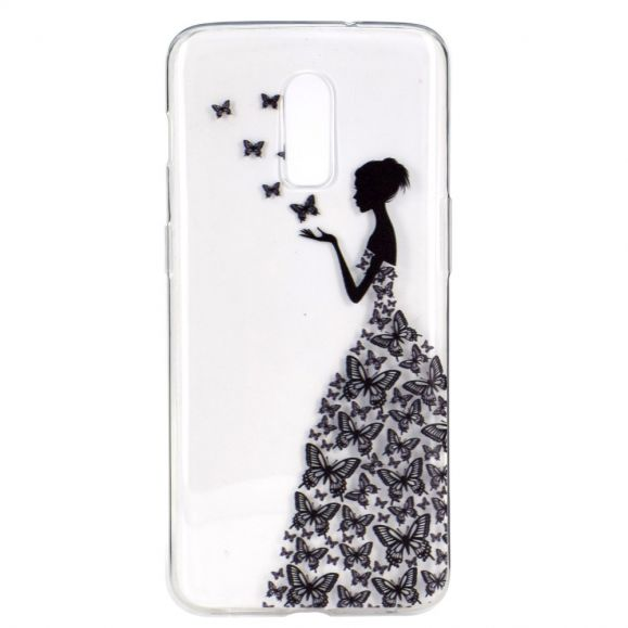 OnePlus 7 - Coque transparente Butterfly Fairy