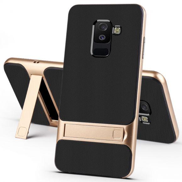Samsung Galaxy A6 - Coque effet grainé avec béquille