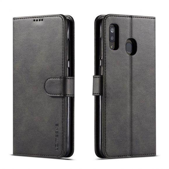 Samsung Galaxy A20e - Étui Tommy style cuir