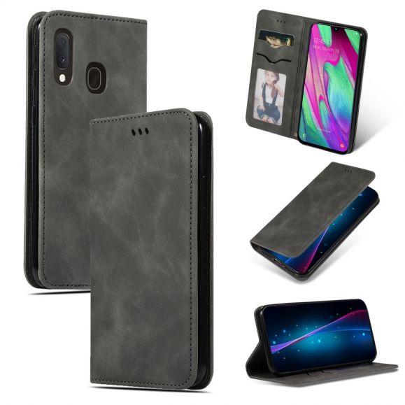 Samsung Galaxy A20e - Housse Business Cuir Rétro