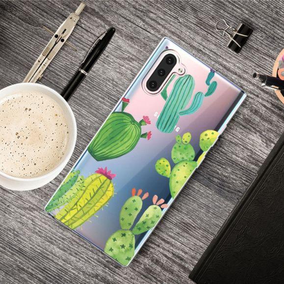 Samsung Galaxy Note 10 - Coque transparente Cactus
