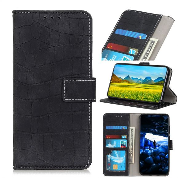 Samsung Galaxy Note 10 - Housse effet croco coutures apparentes