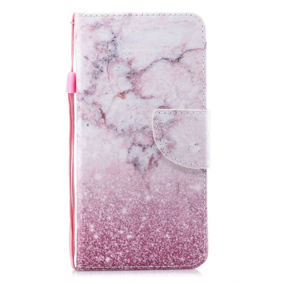 Samsung Galaxy A20e - Étui marbre et paillettes