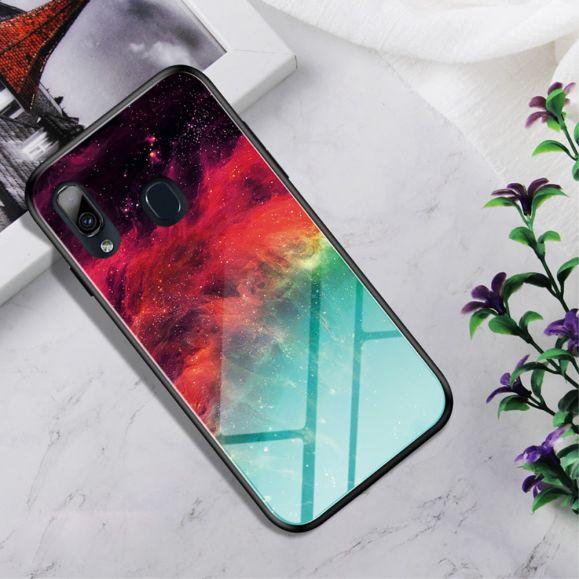 Samsung Galaxy A20e - Coque Nébuleuse dos en verre