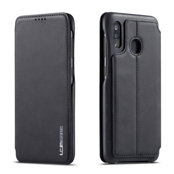 Samsung Galaxy A20e - Coque avec rabat simili cuir