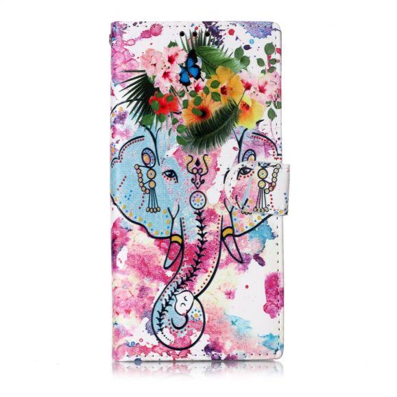 Samsung Galaxy Note 10 - Housse Éléphant tropical