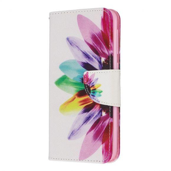 Samsung Galaxy A20e - Housse pétales colorés