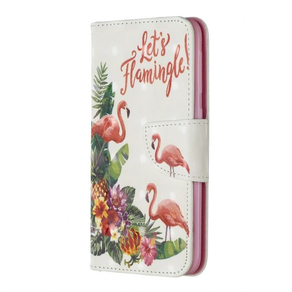 Samsung Galaxy A20e - Étui let's flamingle