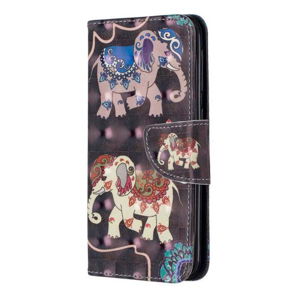 Samsung Galaxy A20e - Étui motifs Éléphants