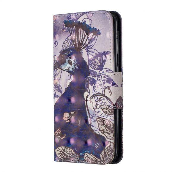 Samsung Galaxy A20e - Étui motif Paon