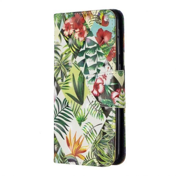 Samsung Galaxy A20e - Étui motifs tropicaux