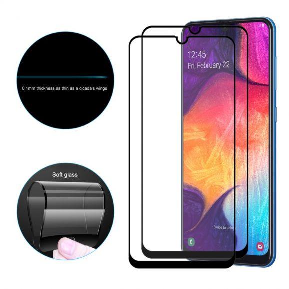 Samsung Galaxy A20e - Pack de 2 films en verre trempé full size