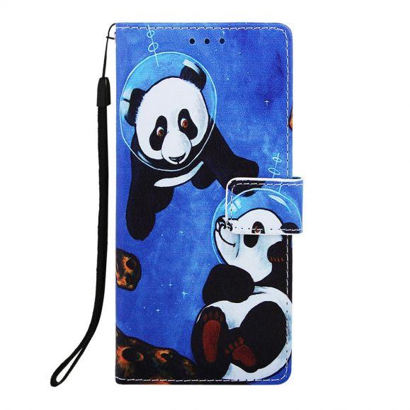 Samsung Galaxy A10 - Étui à lanière Panda astronaute