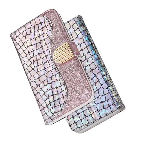 Samsung Galaxy A10 - Étui effet croco Glamour - Rose