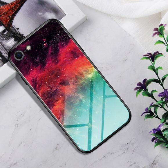 Coque iPhone SE / 8 / 7 Nébuleuse dos en verre