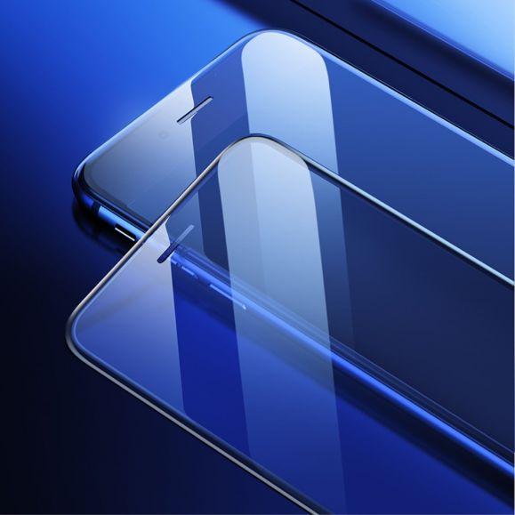 iPhone 8 / 7 - Protection d'écran en verre trempé anti-lumière bleue