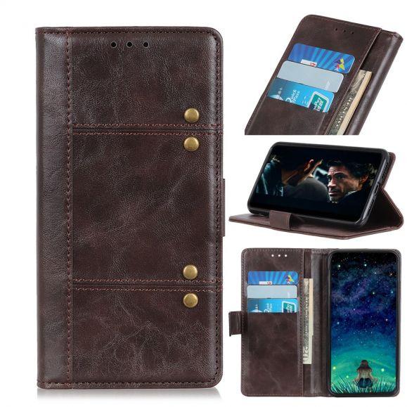 Samsung Galaxy Note 10 Plus - Housse en cuir premium avec rivets