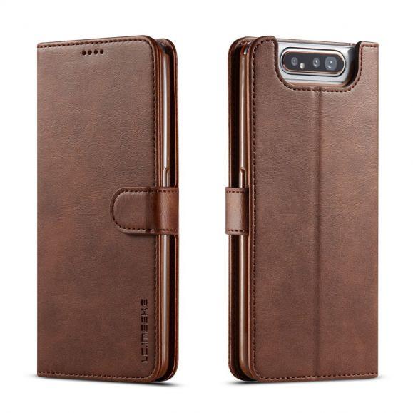 Samsung Galaxy A80 - Étui Tommy style cuir porte cartes