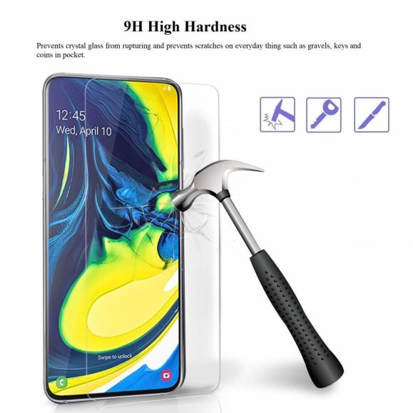 Film de protection en Verre trempé pour Samsung Galaxy A80 - Pack de 2