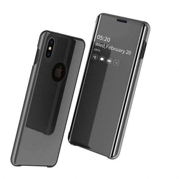 iPhone XS / X - Coque avec rabat effet miroir
