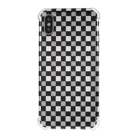 iPhone XS Max - Coque paillettes carreaux