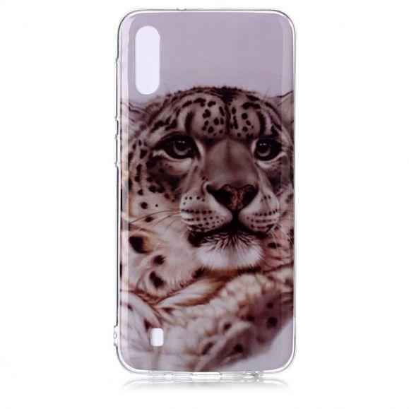 Samsung Galaxy A10 - Coque léopard blanc