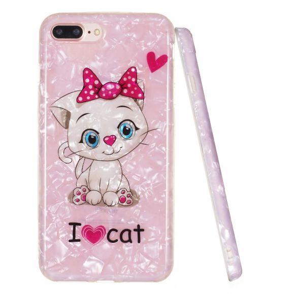 iPhone 8 Plus / 7 Plus - Coque silicone Chatte mignonne