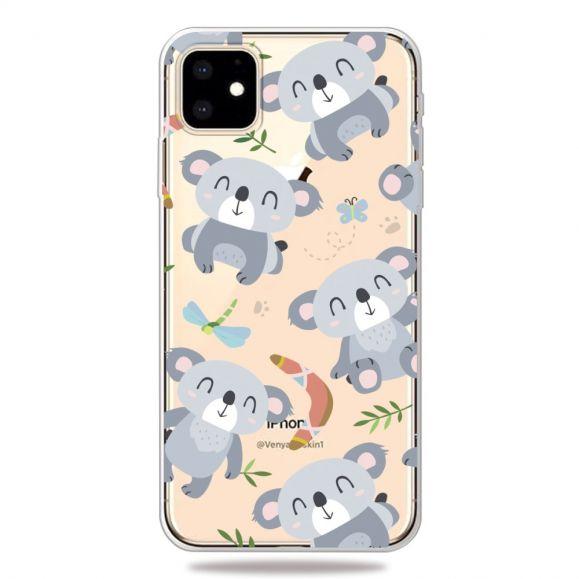 iPhone 11 - Coque transparente Koalas