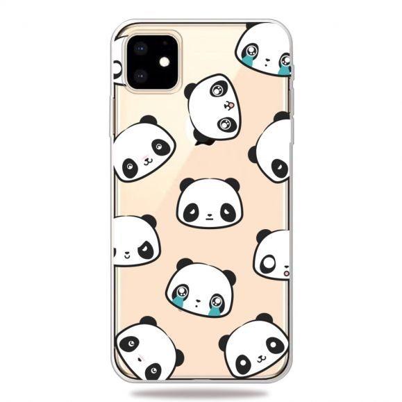 iPhone 11 - Coque transparente panda expressive