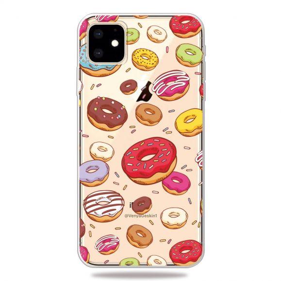 iPhone 11 - Coque transparente donuts
