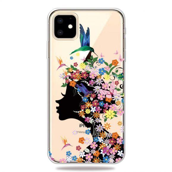 iPhone 11 - Coque transparente colibri fleur
