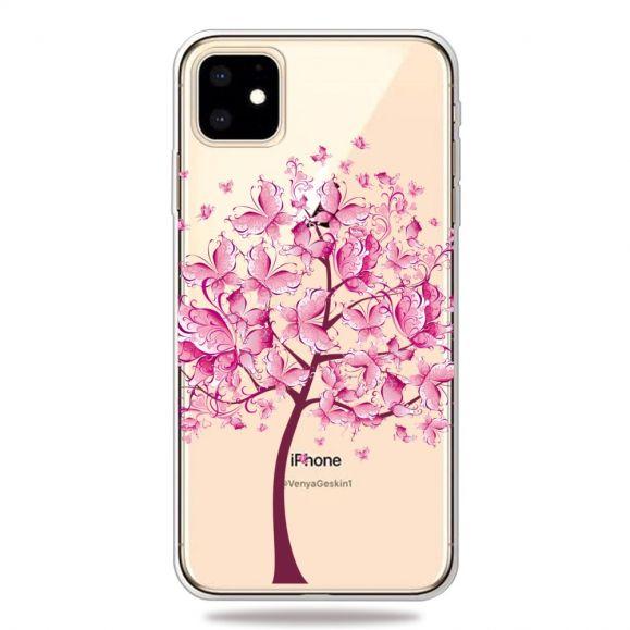 iPhone 11 - Coque transparente arbre à papillons
