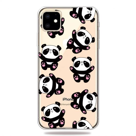 iPhone 11 - Coque transparente Happy Pandas