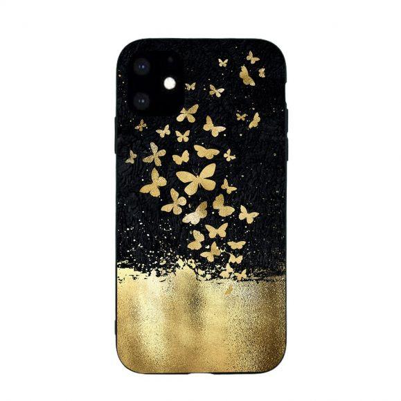 iPhone 11 - Coque papillons dorés