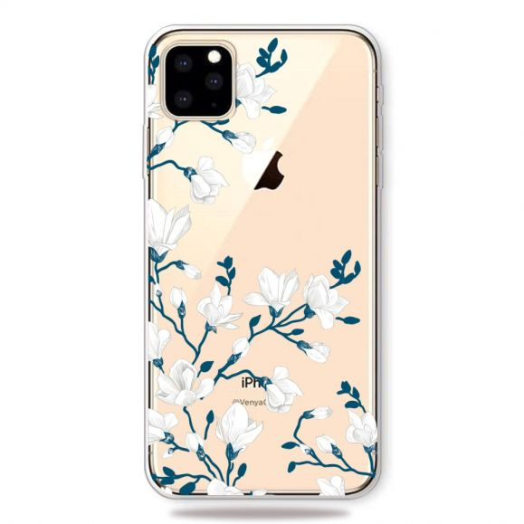iPhone 11 Pro Max - Coque fleurs blanches