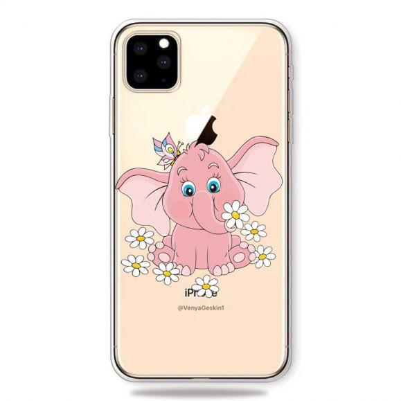 iPhone 11 Pro Max - Coque Éléphant Fleurs