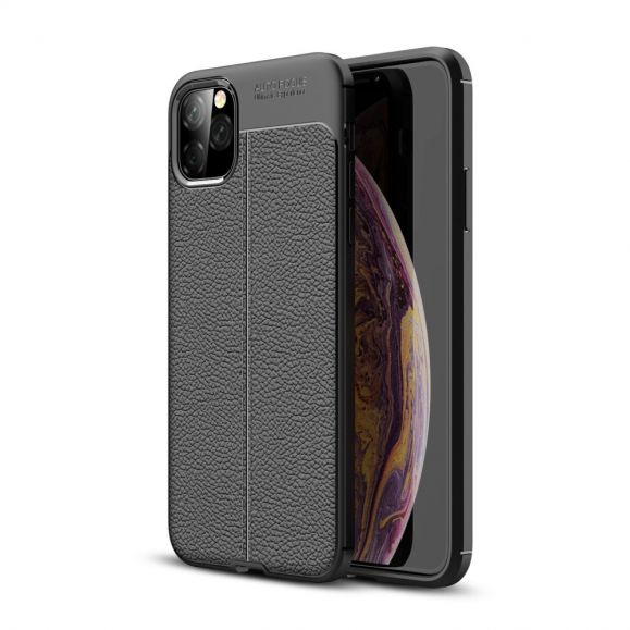iPhone 11 Pro Max - Coque gel finition simili cuir
