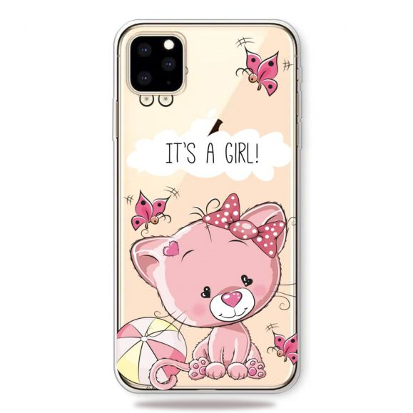 iPhone 11 Pro Max - Coque chat rose