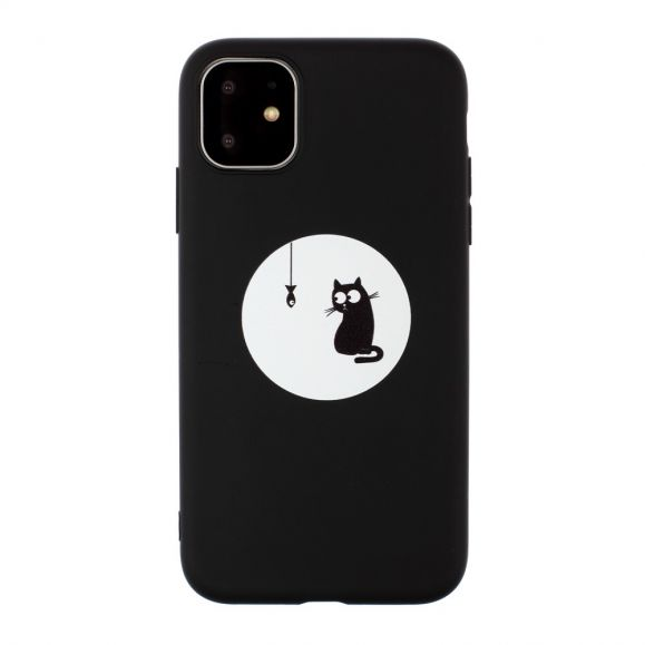 iPhone 11 Pro Max - Coque silicone chat chasseur