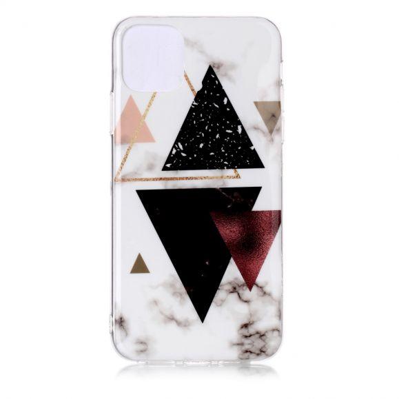 iPhone 11 Pro Max - Coque motifs triangles marbre