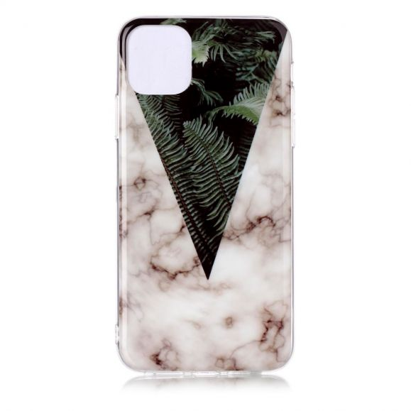 iPhone 11 Pro Max - Coque feuilles vertes et marbre