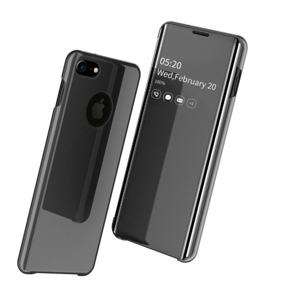 iPhone 8 / iPhone 7 - Coque avec rabat effet miroir