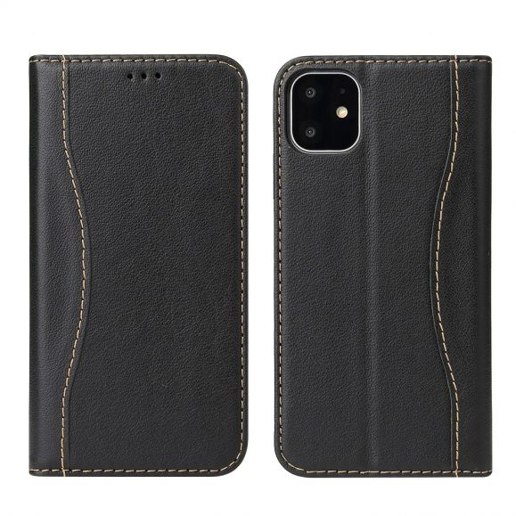 iPhone 11 - Housse cuir véritable coutures apparentes