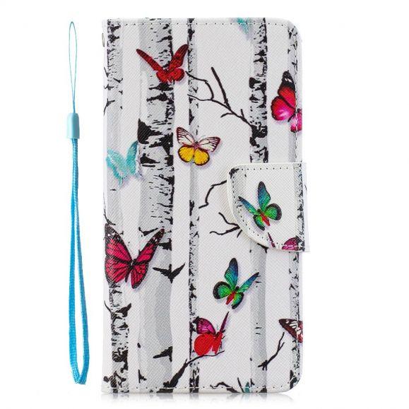 Samsung Galaxy Note 10 Plus - Housse papillons colorés