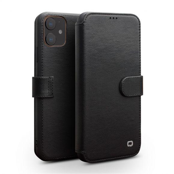 iPhone 11 - Coque avec rabat cuir véritable