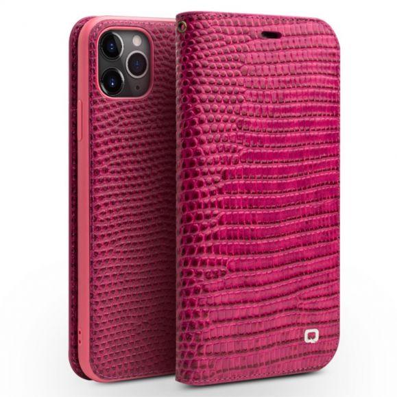 iPhone 11 Pro - Housse cuir véritable effet croco
