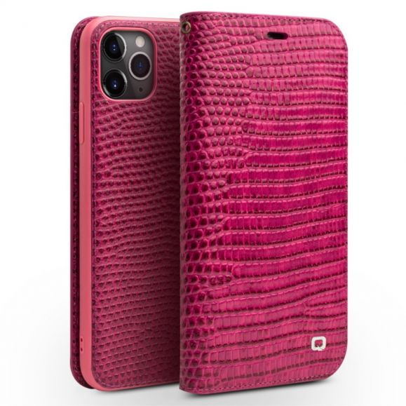 iPhone 11 Pro Max - Housse cuir véritable effet croco
